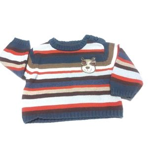 The Children's Place Boys 3-6M Striped Sweater
